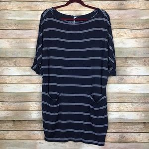 Michael Stars Striped Oversized Tunic Top M